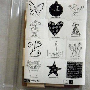 Stampin' Up! Merry Mix Stamp Set - New